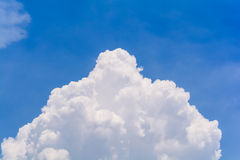 Blue sky and clouds in the summer. (Horizontal royalty free stock images