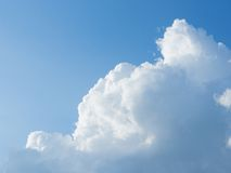 Blue sky and clouds summer Stock Images