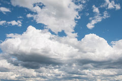 Blue sky and clouds in summer season Stock Photography