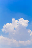 Blue sky and clouds in the summer. (Vertical stock photography