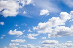 Blue sky with clouds stock illustration