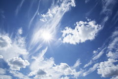 Blue sky with clouds. Stock Photo