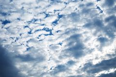 Blue sky background. Blue sky with clouds and sun Royalty Free Stock Photography