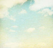 Blue sky, clouds and sun light Royalty Free Stock Photography