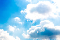 Blue sky with clouds Stock Photo
