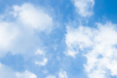 Blue sky and clouds. Blue sky, clouds and sunlight background stock images