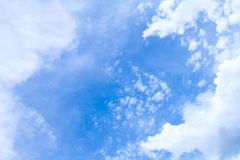 Blue sky with clouds in sunny day Stock Image