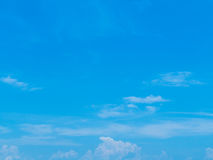 Blue sky with clouds. In sunny day stock photos