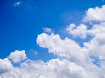 Blue sky with clouds. In sunny day royalty free stock photos