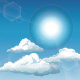 Blue sky clouds sunny day Stock Image