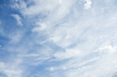 Blue sky with clouds. Royalty Free Stock Image