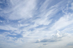 Blue sky with clouds. Stock Image