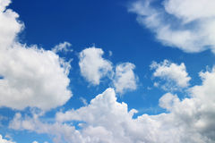 Blue sky and clouds. In sunshine royalty free stock image