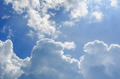 Blue sky and clouds. And sunshine Royalty Free Stock Photo