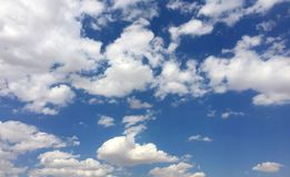 Blue Sky and Clouds. Taken with iPhone. Turkey. August 2017 Stock Photos