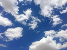 Blue Sky and Clouds. Taken with iPhone. Turkey. August 2017 Stock Photography