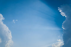 Blue sky with clouds. In thailand Stock Image