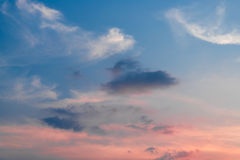 Blue sky with clouds. In thailand Stock Photo