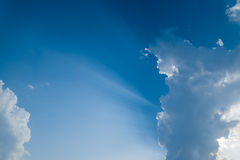 Blue sky with clouds. In thailand Stock Photography