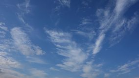 Blue sky with clouds, time lapse stock video footage