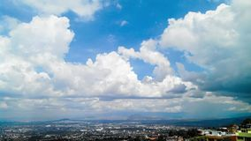 Blue Sky and Clouds stock footage