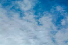 Blue sky with clouds. tinted Stock Photo