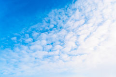 Blue sky with clouds. tinted Royalty Free Stock Photo