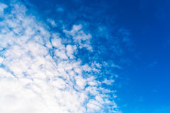 Blue sky with clouds. tinted Stock Photography