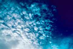 Blue sky with clouds. tinted. Blue sky with clouds. Winter day. tinted Royalty Free Stock Photo