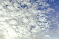 Blue sky with clouds. tinted. Blue sky with clouds. Winter day. tinted Royalty Free Stock Images