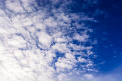 Blue sky with clouds. tinted Stock Images