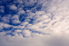 Blue sky with clouds. tinted Stock Photos