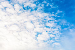 Blue sky with clouds. tinted Royalty Free Stock Photography