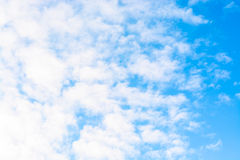Blue sky with clouds. tinted. Blue sky with clouds. Winter day. tinted Royalty Free Stock Photos