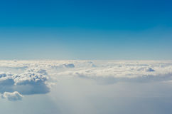 Blue sky with clouds, The upper layers of the atmosphere. Royalty Free Stock Photos