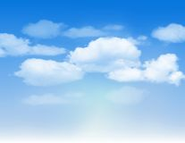 Blue sky with clouds. Vector background Royalty Free Stock Images