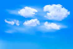 Blue sky with clouds. Royalty Free Stock Photography
