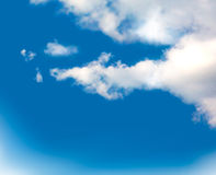 Blue sky with clouds. Vector Royalty Free Stock Photos