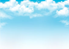 Blue sky with clouds. Vector background royalty free illustration