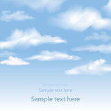 Blue sky with clouds. Vector background. Royalty Free Stock Image