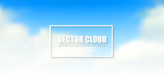 Blue sky with clouds. Vector background Royalty Free Stock Photos