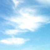 Blue sky with clouds. Vector background Stock Photography