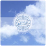 Blue sky with clouds. Vector illustration Stock Photo