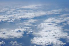 Blue sky clouds view Royalty Free Stock Image