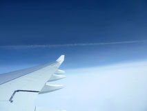 Blue Sky with Clouds view in airplane Royalty Free Stock Photo