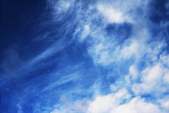 Blue sky clouds wall art background paintings, beautiful colors, wallpaper Stock Images