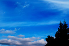 Blue sky clouds wall art background paintings, beautiful colors, wallpaper Stock Image