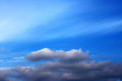 Blue sky clouds wall art background paintings, beautiful colors, wallpaper Royalty Free Stock Photos