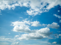 Blue sky with clouds. Wallpaper stock images