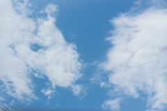 Blue sky clouds weather air texture nature  background Stock Photography